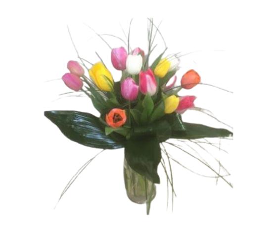 Bouquet tulipani 15 multicolor %e2%82%ac 50