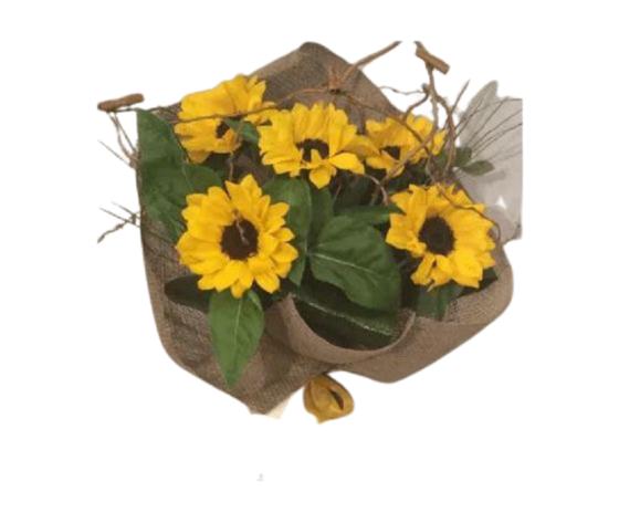 Bouquet girasoli con rami e cannella %e2%82%ac 35