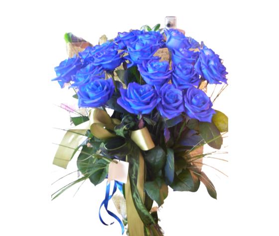 Mazzo 18 rose blu %e2%82%ac 150