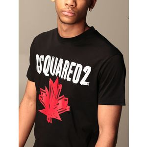 Dsquared2 T-shirt black with logo print