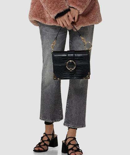 Small miami crossbody bag in croco print faux leather trussardi jeans 50 05 8051932287849 l