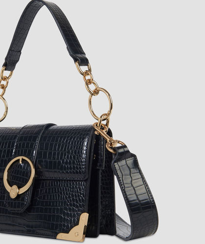Small miami crossbody bag in croco print faux leather trussardi jeans 50 02 8051932287849 sd