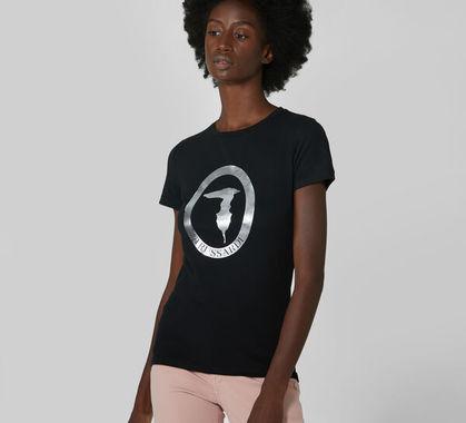 Regular fit stretch jersey t shirt trussardi jeans 50 01 8051932470876 f