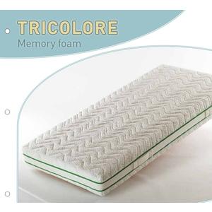 Materasso Memory TRICOLORE Memory Foam