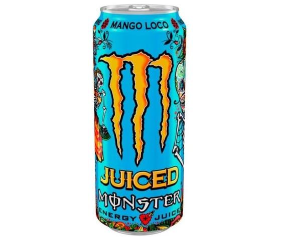 0085635 monster energy juice mango loco 50cl confezione da 24 barattoli lattina 780