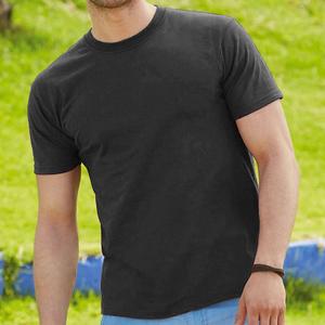 Maglietta da uomo in cotone, colore nero