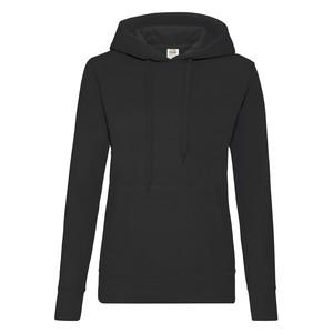 Felpa da donna con cappuccio classic, colore nero