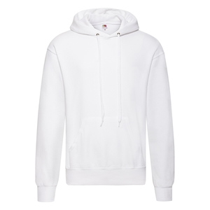Felpa da uomo con cappuccio classic, colore bianco