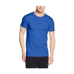Maglietta da uomo in cotone, colore blu royal con stampa personalizzata