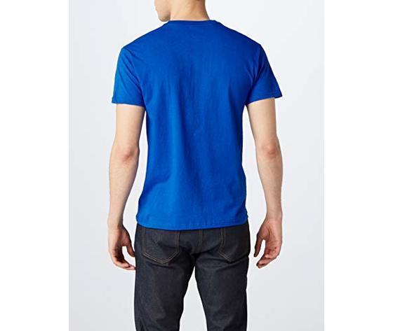 T shirt uomo blu royal schiena