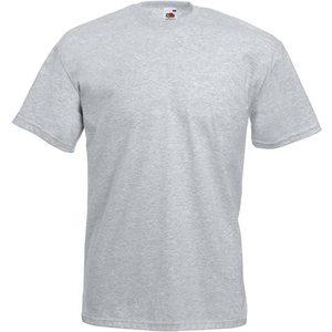 Maglietta da uomo in cotone, colore grigio melange con stampa personalizzata