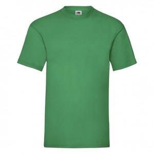 Maglietta da uomo in cotone, colore verde prato con stampa personalizzata