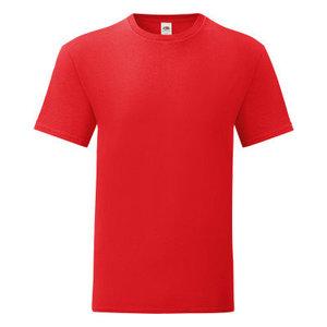 Maglietta da uomo in cotone, colore rosso con stampa personalizzata