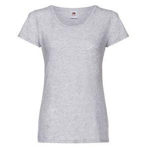 Maglietta da donna in cotone, colore grigio melange con stampa personalizzata