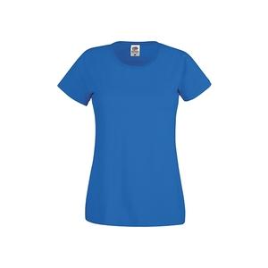 Maglietta da donna in cotone, colore blu royal con stampa personalizzata