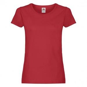 Maglietta da donna in cotone, colore rosso con stampa personalizzata