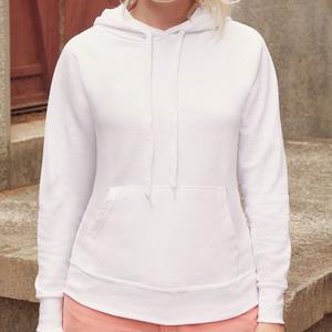 Felpa da donna con cappuccio classic, colore bianco
