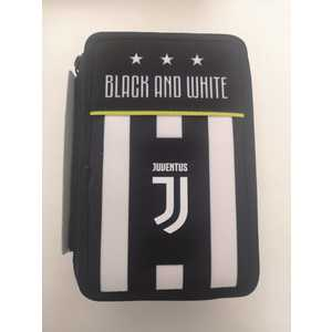 Astuccio 3 zip JUVENTUS Seven black and white