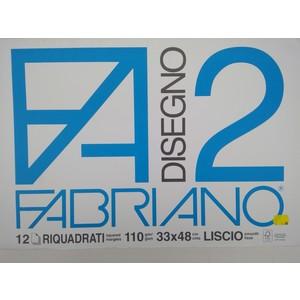 BLOCCO DISEGNO FABRIANO 2 33x48 12fg riquadrato