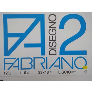 BLOCCO DISEGNO FABRIANO 2 33x48 12fg liscio