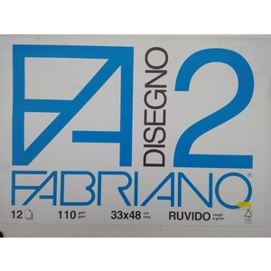 BLOCCO DISEGNO FABRIANO 2 33x48 12fg RUVIDO