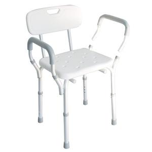 sedia doccia braccioli e schienale