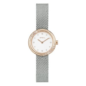 Orologio bicolore donna in acciaio maglia milano Breil Wish TW1871