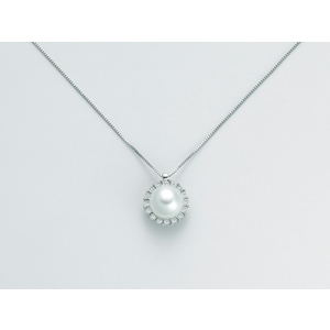 Collana con Pendente Miluna in oro bianco e diamanti pcl5748