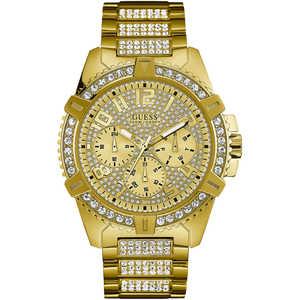 Orologio uomo in acciaio dorato con zirconi GUESS FRONTIER W0799G2