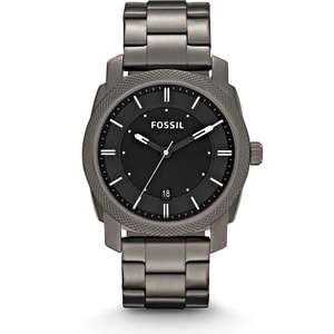 """Fossil orologio solo tempo uomo in acciaio brunito """"Machine"""" FS4774"""