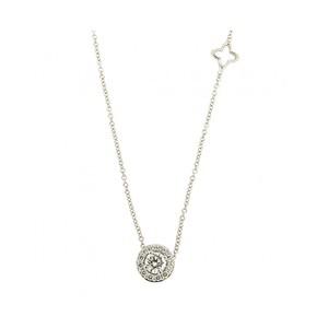 Collana con Pendente Donna di diamanti Recarlo P69SC001-028