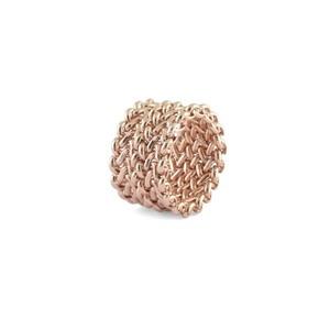 Anello Unoaerre con maglia a chicco di riso in bronzo rosa 000EXA0620000
