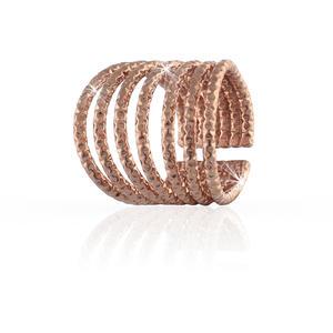 Anello fascia donna a sette fili diamantati in bronzo rosa UNOAERRE 000EXA0600000