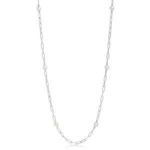 Collana lunga in argento con perle collezione Miluna Miss Italia PCL6073B