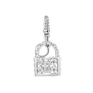 Charm in argento 925 a forma di lucchetto ROSATO RSE060