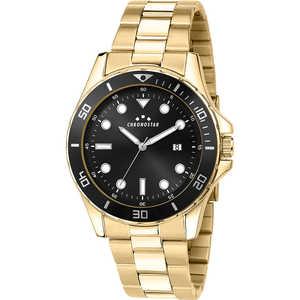 Orologio Uomo in acciaio dorato e ghiera nera Chronostar Captain R3753291001