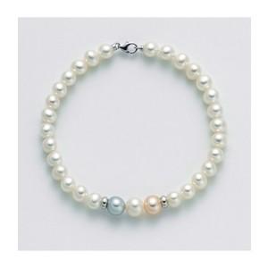 Bracciale Donna Miluna Portafortuna con perle e oro bianco PBR2940