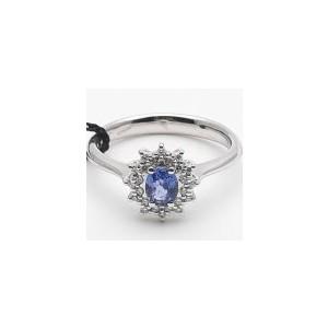 Anello donna Recarlo Classic in oro con diamanti e zaffiro blu R77CC001/ZB-15