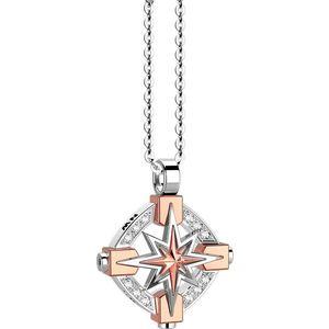 COLLANA UOMO CON PENDENTE Rosa dei Venti in Oro e Diamanti ZANCAN EC667BR