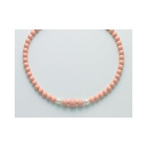 Collana donna con pasta di corallo rosa e perle MILUNA TERRA e MARE - PCL5956