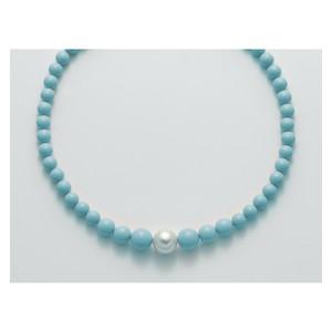 Collana donna con pasta di turchese e perla di MILUNA TERRA e MARE - PCL5318
