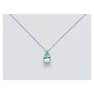 Collana MILUNA donna con acquamarina e diamante CLD4236