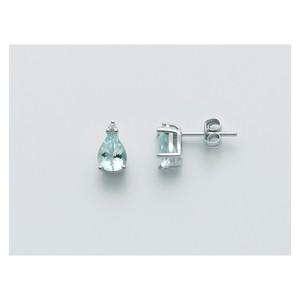 Orecchini Donna Miluna con Acquamarina e diamanti in oro 18 kt  ERD2492