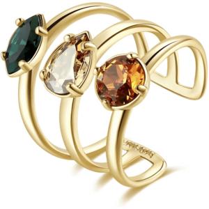 anello donna dorato con pietre Brosway collezione Affinity BFF149C