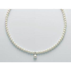Collana donna con perle originali e oro 18 kt MILUNA PERLE PORTAFORTUNA PCL5528