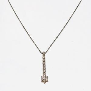 Collana con pendente donna con diamanti in oro bianco 18 kt