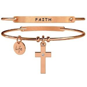 bracciale donna Kidult Spirituality croce/fede 731038