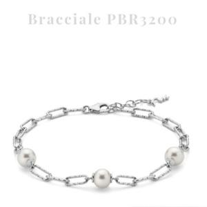 Bracciale Miluna donna a catena in argento con perle originali PBR3200