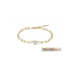 Bracciale Miluna Collezione Miss Italia in argento dorato e perla PBR3140G