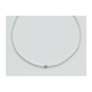 Collana di Perle MILUNA Con Sfera Centrale in Oro effetto diamantato Pcl1834